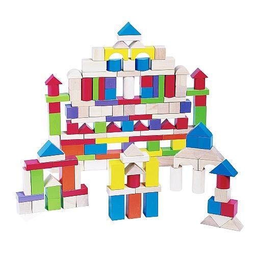 bloques de construccion de madera