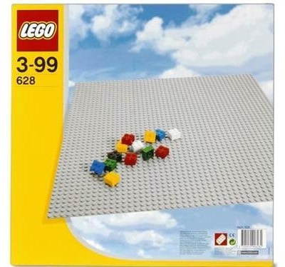lego 628 base de construccion gris